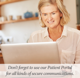 Our Patient Portal is for You.